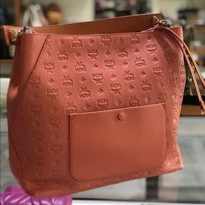 ❤️New MCM Klara Large Monogrammed Leather Hobo